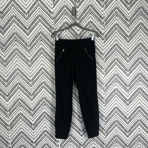 Athleta Black Mid Rise Ruched Aspire Ankle Pants 2